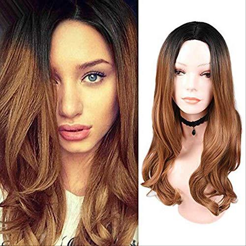 Peluca pelo sintético color negro ceniza marrón