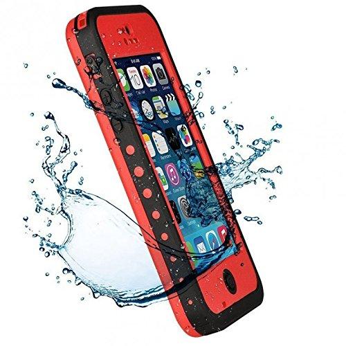 GZ® - Coque étanche jusqu'à 2 mètres, anti-chocs et anti-rayures - iPhone 5c - Rouge