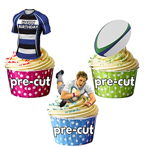 AK Giftshop PRECUT Happy Birthday Rugby Party Pack