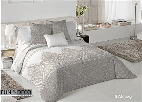 Textilhome - Funda Nórdica SIAN - Cama 150 - 240x260cm . Color...