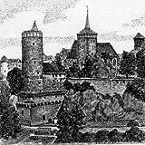 Kunstverlag Christoph Falk Einfarbige original Radierung Bautzen, Blick von der Friedensbrücke von H.Sommer als loses B