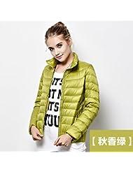 WJP mujeres ultra ligero de la chaqueta poco voluminoso abajo Outwear amortiguar por la chaqueta W-2826
