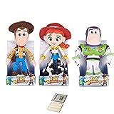 Price Toys Toy Story 4 Peluche Disney Pixar Collection - Woody, Buzz Lightyear, Jessie, Bo Peep, Forky, Alien e Rex (Buzz / Woody / Jessie)