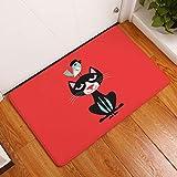 Nunbee Paillasson Imprimé Animalier Designe Tapis de Sol antidérapant extérieur d'entrée Interieur Fibre de Coco Geek Chat Chouette cerf Multicolore, Comic-Tier4 40 * 60cm