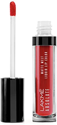 Lakme Absolute Matte Melt Liquid Lip Color, Red Smoke, 6ml