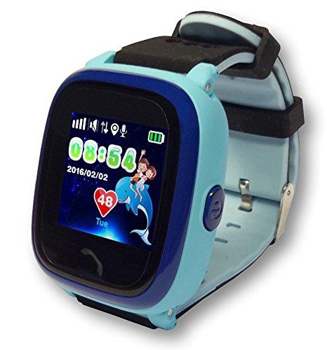 VIDIMENSIO GPS Telefon Uhr Kleiner Delfin Wifi WASSERDICHT für Kinder, SOS
