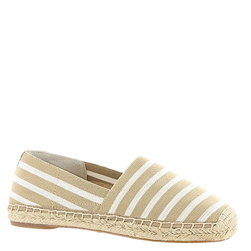 Vionic Womens Valeri Espadrille Flat Sand/Cloud Dancer Stripe