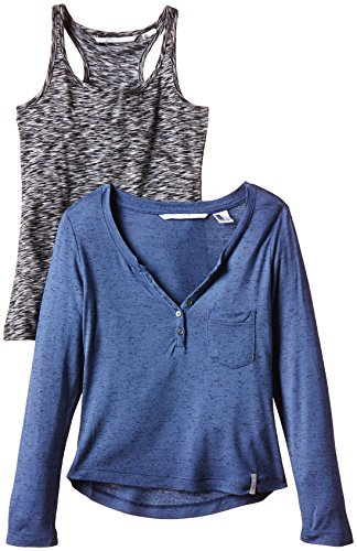 oneill-lg-doubled-t-shirt-manches-longues-fille-crown-blue-fr-xxl-taille-fabricant-164