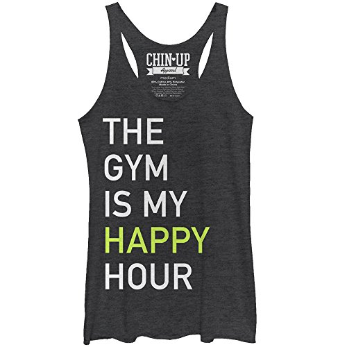 Chin up Women's Gym Happy Hour Racerback Tank Top