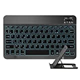 MINLIDAY Clavier Bluetooth AZERTY pour Tablet iOS Android Windows PC Laptops, Clavier...
