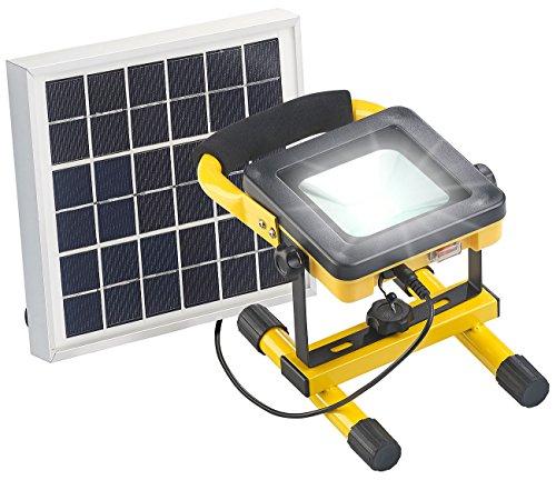 AGT Solar Flutlicht: Solar-LED-Baustrahler mit Akku, 4,5-Watt-Solarpanel, 10 Watt, 450 lm (Solar Light)