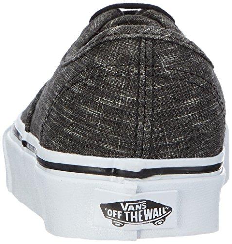Vans U Authentic Denim Chevron, Sneakers, Unisex Nero (denim chevron black/true white)