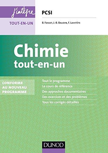 En ligne téléchargement gratuit Chimie tout-en-un PCSI - 3e éd. : Conforme au nouveau programme (Concours Ecoles d'ingénieurs) pdf epub