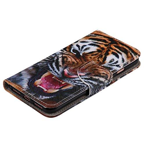 WYSTORE apple iphone 7 Coque,Flip Style Ultra Slim PU Cuir Couverture Wallet Case Avec SupportFonction Coque Magnetic Closure PU Étui Portefeuille -W23 Q03