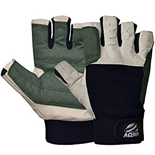 AQWA Sailing Gloves Deckhand Gripy Glove Amara Cut Finger (Small)