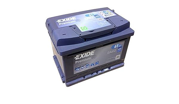 EXIDE PREMIUM Carbon Booster EA 612 12V 61AH Starterbatterie New Model 2014//15