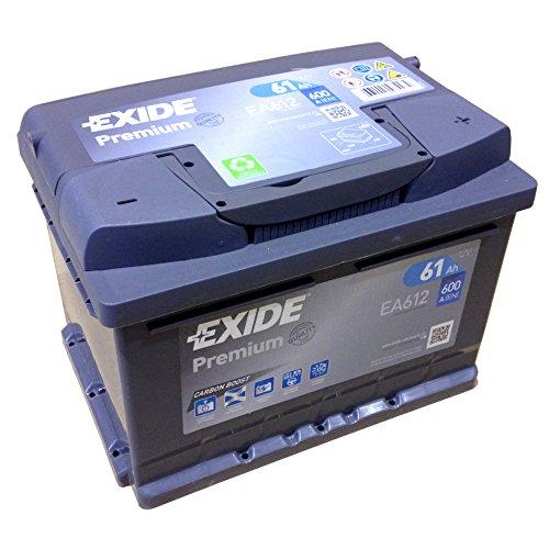 Preisvergleich Produktbild EXIDE PREMIUM Carbon Booster EA 612 12V 61AH Starterbatterie Neues Modell 2014/15