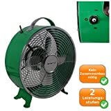 toller Retro Bodenventilator Ventilator Lüfter für Tisch oder Boden 26cm 25W - grün