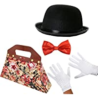 MAGICAL EDWARDIAN NANNY COSTUME SET - BOWLER HAT FANCY DRESS BOOK WEEK  CHARACTER CHILDS MOVIE FILM acd103948cfb