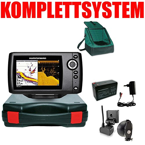 Humminbird Echolot Portabel Basic Plus Komplettsystem Helix 5 DI G2 Down Imaging