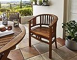 SAM Gartensessel Karlebo Stuhl mit Armlehnen, Gartenmöbel für Balkon & Terrasse, Akazien-Holz massiv, FSC 100% Zertifiziert - 8