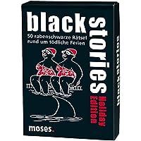 Moses black stories Holiday Edition | 50 rabenschwarze Rätsel | Das Krimi Kartenspiel