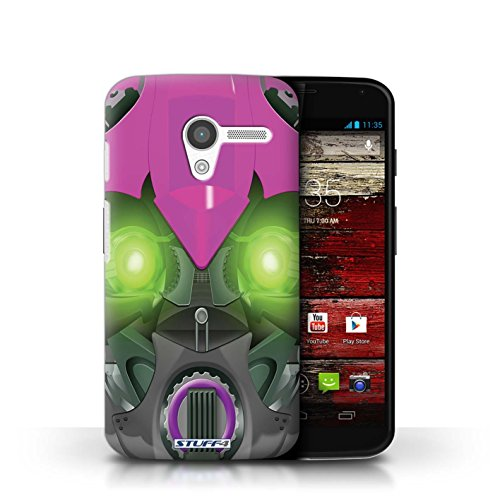 Coque de Stuff4 / Coque pour Motorola MOTO X / Opta-Bot Vert Design / Robots Collection Bumble-Bot Violet