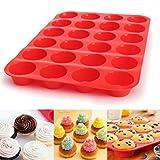 Muffinform 24 Cavity Mini Muffin Silikon Soap Cookies Cupcake Backformen Pfanne Tablett Schimmel