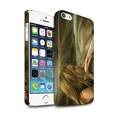 Officiel Elena Dudina Coque / Clipser Matte Etui pour Apple iPhone SE / Sous-Marin Design / Agua de Vida Collection Sonrisas/Dauphin