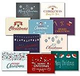 30 Premium Weihnachtskarten und Umschläge - inklusive E-Paper mit den schönsten Weihnachtsgrüßen für den Selbstdruck - 10 hochwertige Weihnachtskartendesigns - 100% Made in Germany - von Davom