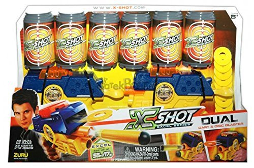 laster Gun Pack - Cans, Darts, and Discs Action Shooter by XShot ()