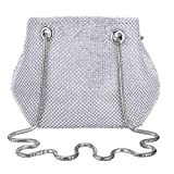 Selighting Bolsa de Noche Mujer Bolso de Mano Bolso Clutch de Embrague Monedero para Mujeres y Señoras para Boda Partido Fiesta Cumpleaños (Plata-Style3)
