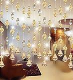 LIQICAI Türvorhang Wulstvorhang Kristall für Hochzeit Party Club Schaufenster Raumteiler (Farbe : #3, Größe : Wide 240cm)