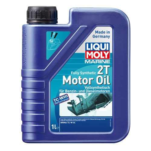 LIQUI MOLY 25021 Bootsmotoröl 2T Marine Fully Synthetic, 1 L -