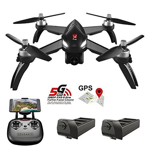 Teeggi MJX Bugs 5W B5W GPS FPV RC-Drohne mit Kamera Live-Video GPS-Smart-Quadcopter mit 5G 1080P HD-WLAN-Kamera und Follow-Me-Höhenstand-Headless-Modus-Track-Flug
