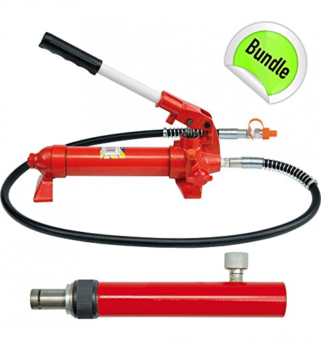Handpumpe Hydraulik Richtsatz Druck Zylinder Presse Hydraulikzylinder 4 Tonnen