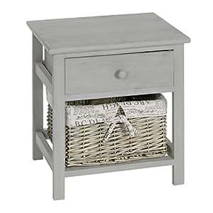 table de nuit table de chevet beige en bois avec 1 tiroir. Black Bedroom Furniture Sets. Home Design Ideas
