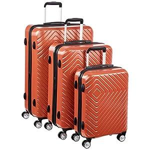 AmazonBasics Geometric Luggage - 3 piece Set (55cm, 68cm, 78cm), Sunset