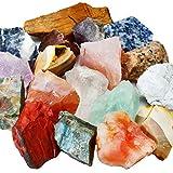 mookaitedecor - Pietre naturali per litoterapia, grezze, cristalli per guarigione, minerali, collezione per decorazione, 460 g/set, Pietra, Pierres Mélangé