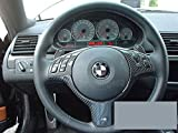 BMW Lenkrad Emblem 45mm Selbstklebend Carbonstahl schwartz M-Tec-Serie M3, M5, 1, 2, 3, 4, 5, 6, 7