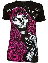 Akumu Ink Dames Empoisonné Noir T-shirt