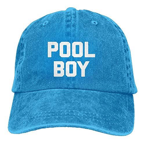 Preisvergleich Produktbild QIOOJ Pool Boy Vintage Adjustable Denim Hat Baseball Caps for Adult