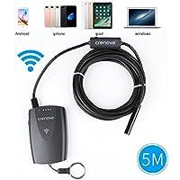 Crenova ISCOPE 2 in 1 WiFi endoscopio 2.0 Megapixel CMOS HD USB endoscopio impermeabile portatile di controllo di periscopio digitale con 5 metri di cavo