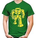 Sheldon Roboter Männer und Herren T-Shirt   Spruch Cooper Geschenk (L, Grün)
