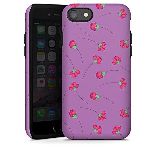 Apple iPhone X Silikon Hülle Case Schutzhülle Rosen Blumen Muster Tough Case glänzend