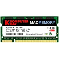 Komputerbay MACMEMORY Apple 4GB (bastone singolo 4GB) PC2-5300 667MHz DDR2 SODIMM iMac e Macbook memoria