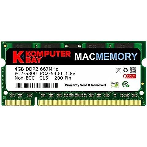 Komputerbay 4GB 1X4 667 - Memoria RAM para iMac y MacBook