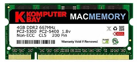 Komputerbay J33 Macmemory Apple Arbeitsspeicher 4GB (PC2-5300, 667MHz, 200-polig) DDR2-SODIMM für Apple iMac und Macbook
