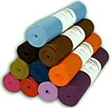 Tapis de yoga 0,6 x183 cm Très épais 14 couleurs non toxiques par phthalates Clean PVC (TM) par Bean Products - Noir