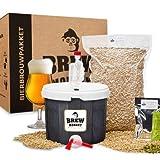 Brew Monkey Basis Tripel bierbrouwpakket | bier brouwen in je eigen keuken | bierbrouw starterspakket | bier brouw pakket met verse ingrediënten | herbruikbare vergistingsemmer | verschillende tools | origineel cadeau | kerstcadeau